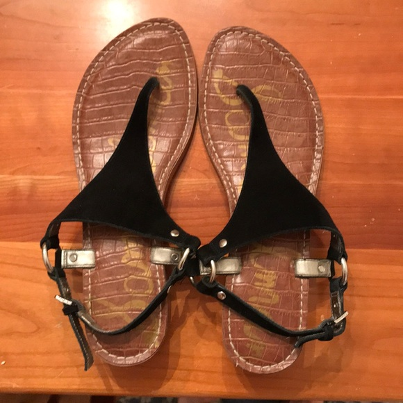 Sam Edelman Shoes - Sam Edelman Black suede Sandals size 8.5